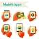 Set Mobile Icons - GraphicRiver Item for Sale