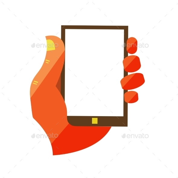 GraphicRiver Hand Holding Touchscreen Mobile Phone 11444627