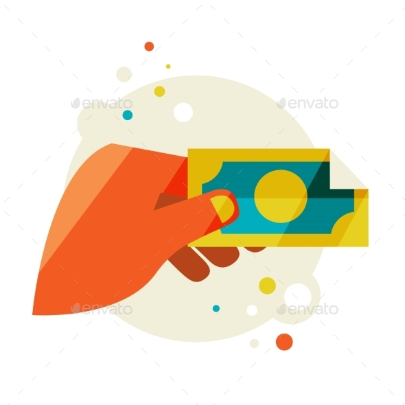 GraphicRiver Man s Hand Holding a Banknote 11444628
