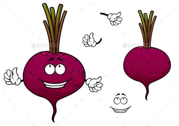 GraphicRiver Happy Cartoon Beetroot Vegetable Character 11444668