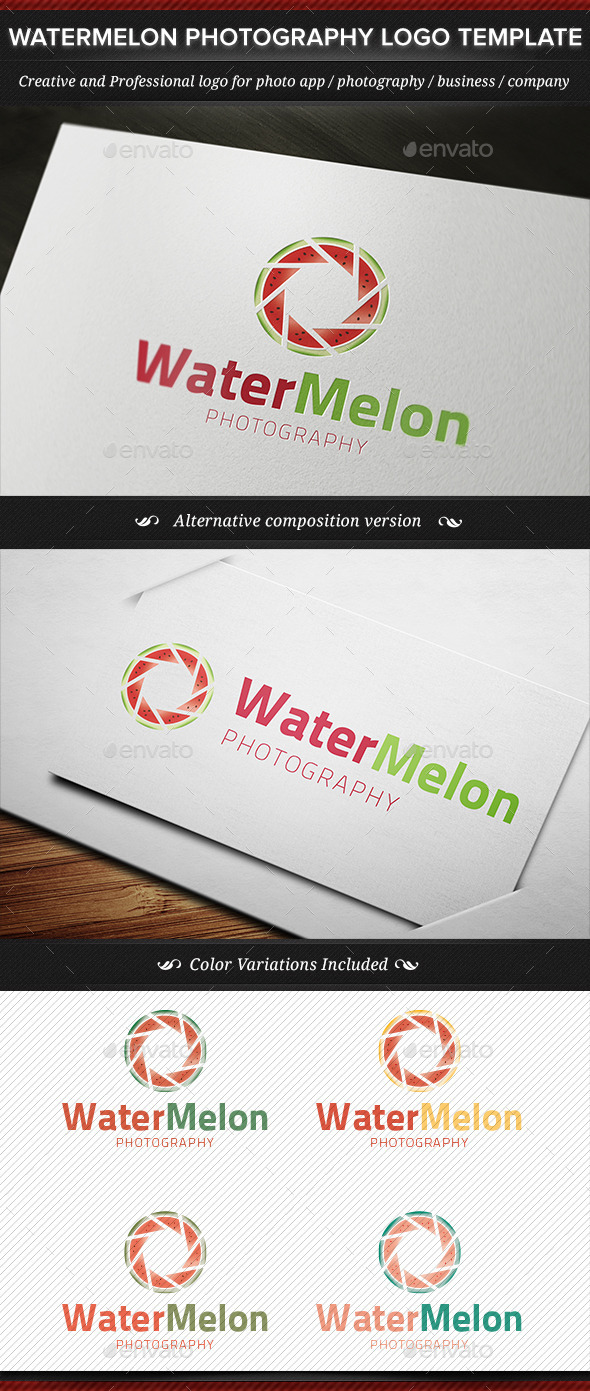 GraphicRiver Watermelon Nature Photography Logo Template 11444734