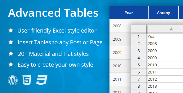 CodeCanyon Advanced Tables Excel-style table editor 11354430