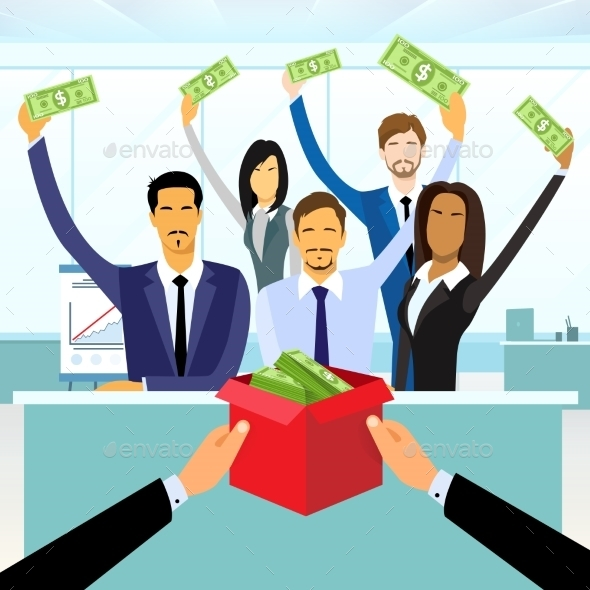 GraphicRiver Business People Group Crowd Funding Put Money 11444862
