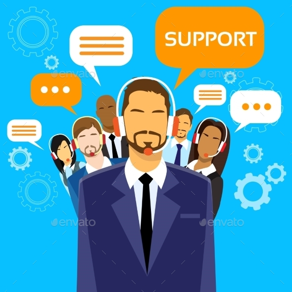 GraphicRiver Support Business People Group Technical Team On 11444879