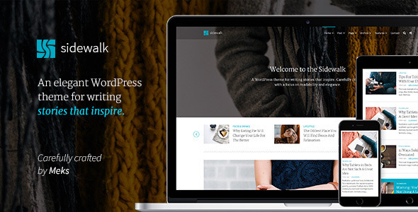 ThemeForest Sidewalk Personal Blog WordPress Theme 11444883