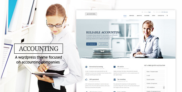ThemeForest Accounting WP Business theme for Accountants 11444926