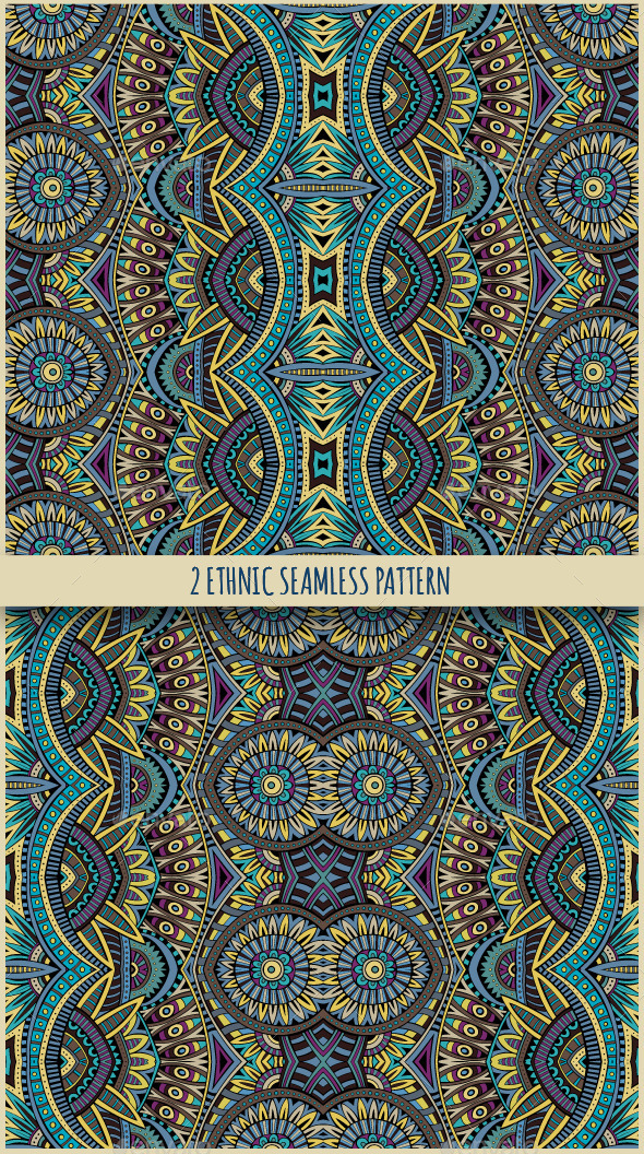 GraphicRiver 2 Ethnic Seamless Patterns 11444966