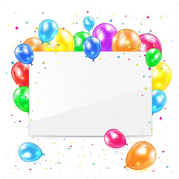GraphicRiver Blank Card with Balloons 11444973