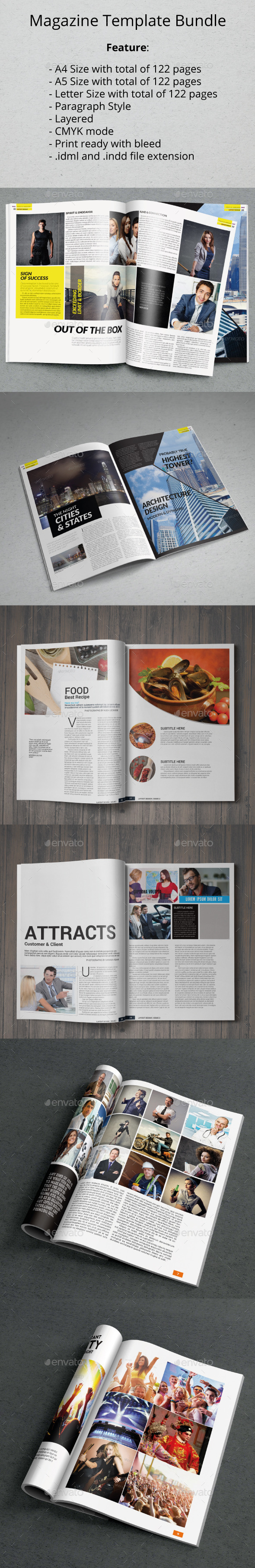 GraphicRiver A4 A5 Letter Magazine Bundle 11445025