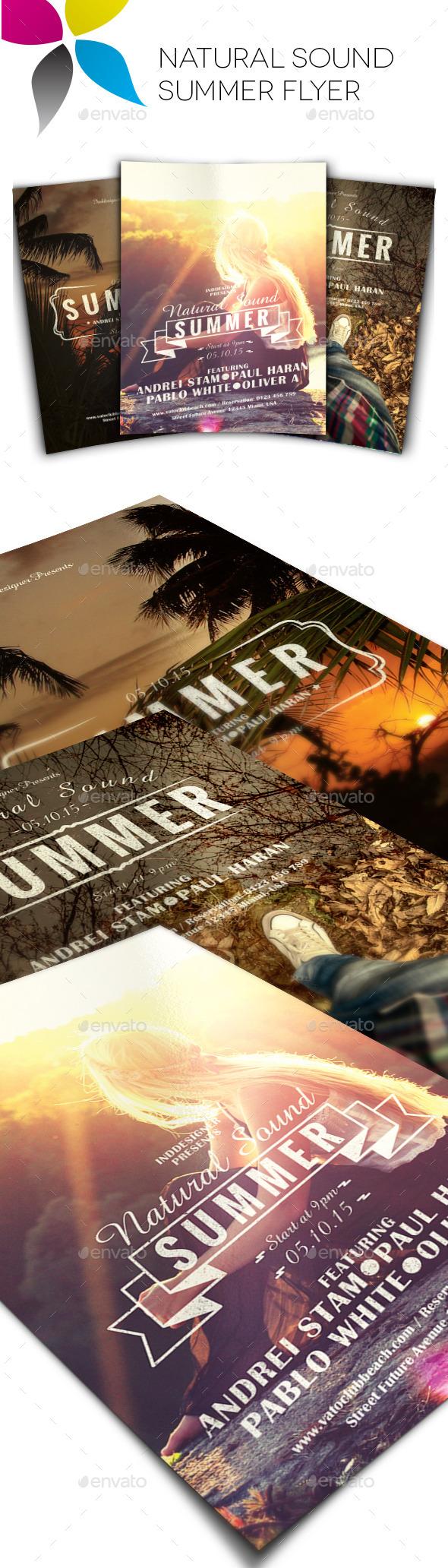 GraphicRiver Natural Sound Summer Flyer 11380998