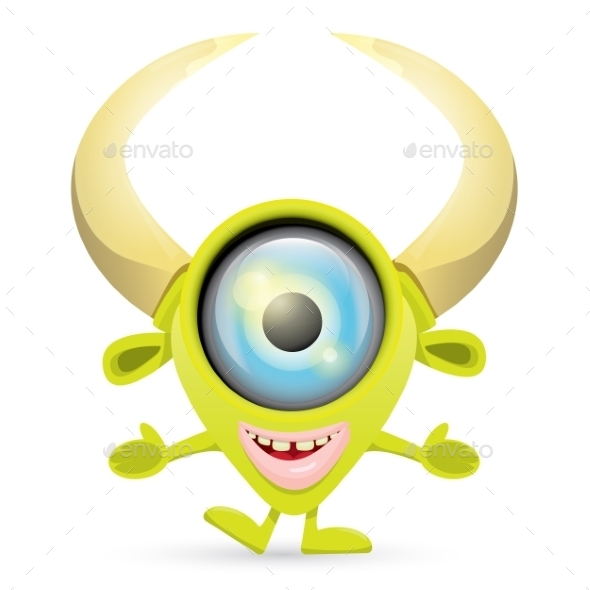 GraphicRiver Green Cartoon Monster 11445175