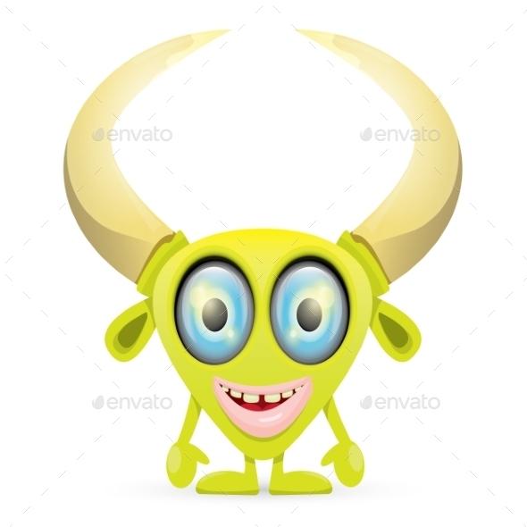 GraphicRiver Green Cartoon Monster 11445181