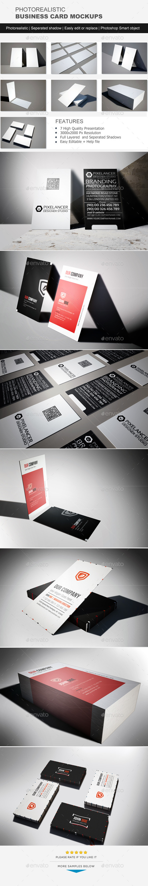 GraphicRiver Photorealistic Business Card Mock-Up 11445256