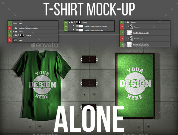 GraphicRiver T-Shirt Mock-Up Alone 11445402