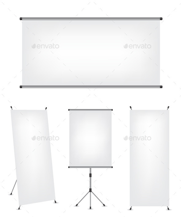 GraphicRiver Roll Up Banner and Screens 11445430