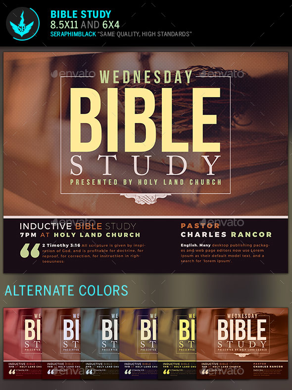 GraphicRiver Bible Study Church Flyer Template 11445458