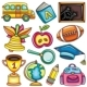 Colorful school icons for children - GraphicRiver Item for Sale