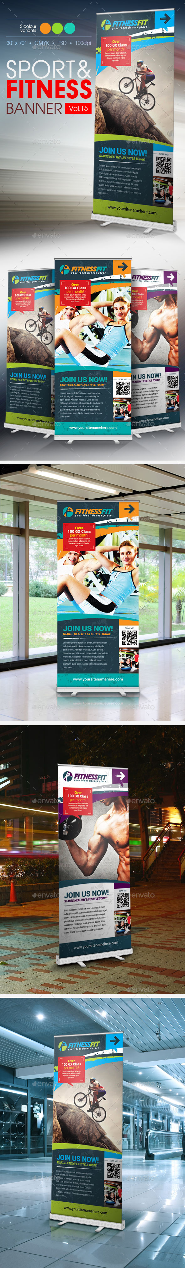 GraphicRiver Fitness Banner Vol.15 11445477