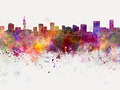 Pretoria skyline in watercolor background - PhotoDune Item for Sale