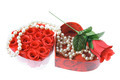 Pearl Necklace and Red Roses - PhotoDune Item for Sale