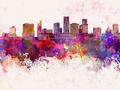 St. Paul skyline in watercolor background - PhotoDune Item for Sale