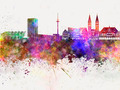 Bremen skyline in watercolor background - PhotoDune Item for Sale