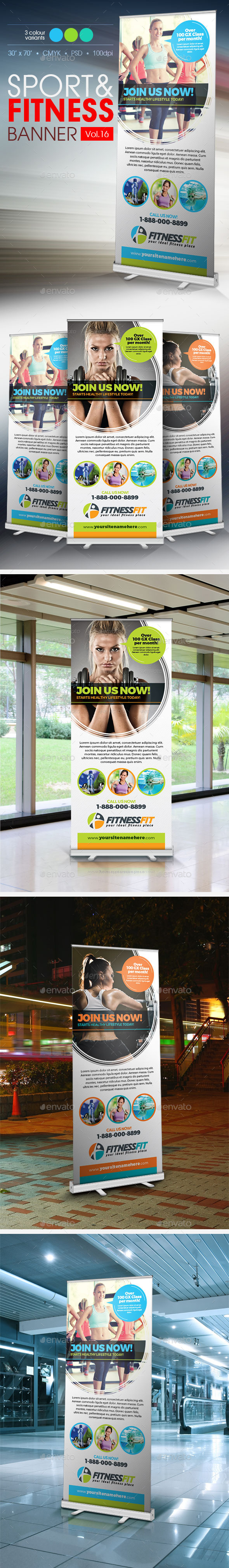 GraphicRiver Fitness Banner Vol.16 11445532