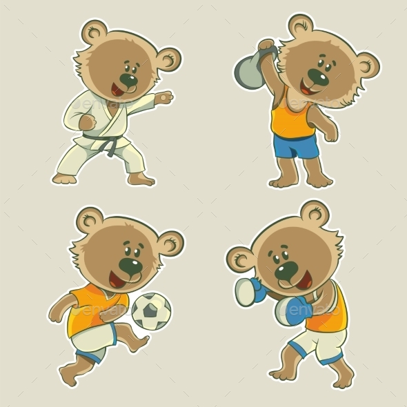 GraphicRiver Bear Athlete 11445566