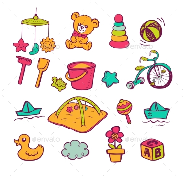 GraphicRiver Infant Icon Set 11445619