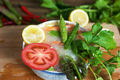 Noodle with lemon  tomatoes and asparagus - PhotoDune Item for Sale