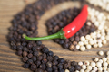 Red black and white peppers background - PhotoDune Item for Sale