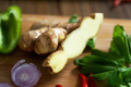 Sliced ginger with celery - PhotoDune Item for Sale
