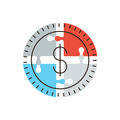 Money solution flat line icon concept - PhotoDune Item for Sale