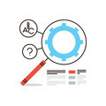 SEO infographic flat line icon concept - PhotoDune Item for Sale