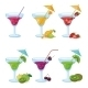 Drink Glasses with Fruit - GraphicRiver Item for Sale