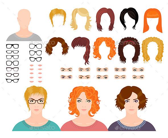 GraphicRiver Fashion Female Avatars 11445712