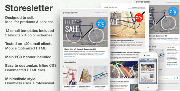 Storesletter HTML email-marketing template to sell - Email Templates Marketing