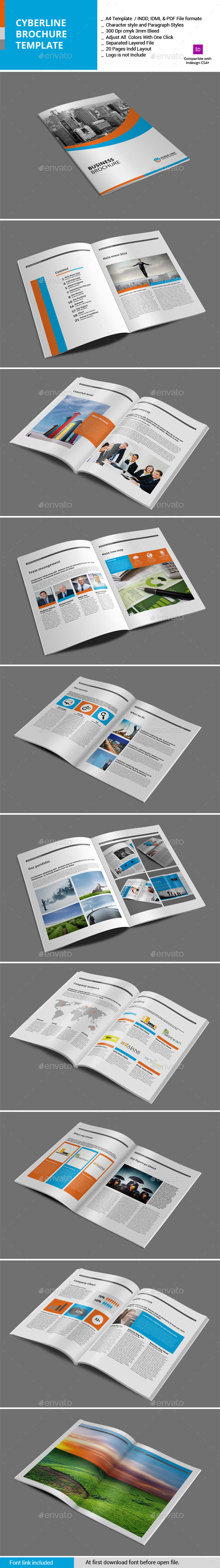 GraphicRiver Syberline Brochure Template 11446166