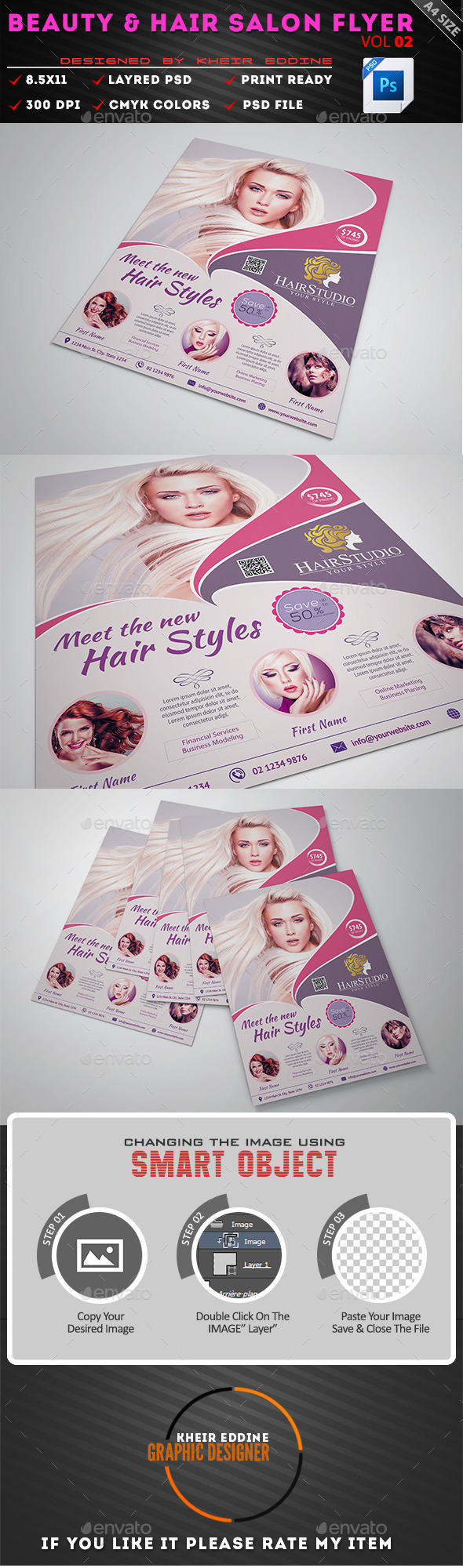 GraphicRiver Hair & Beauty Salon Flyer Vol 02 11446232