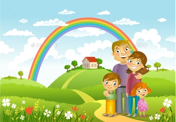 GraphicRiver Happy Family 11446320