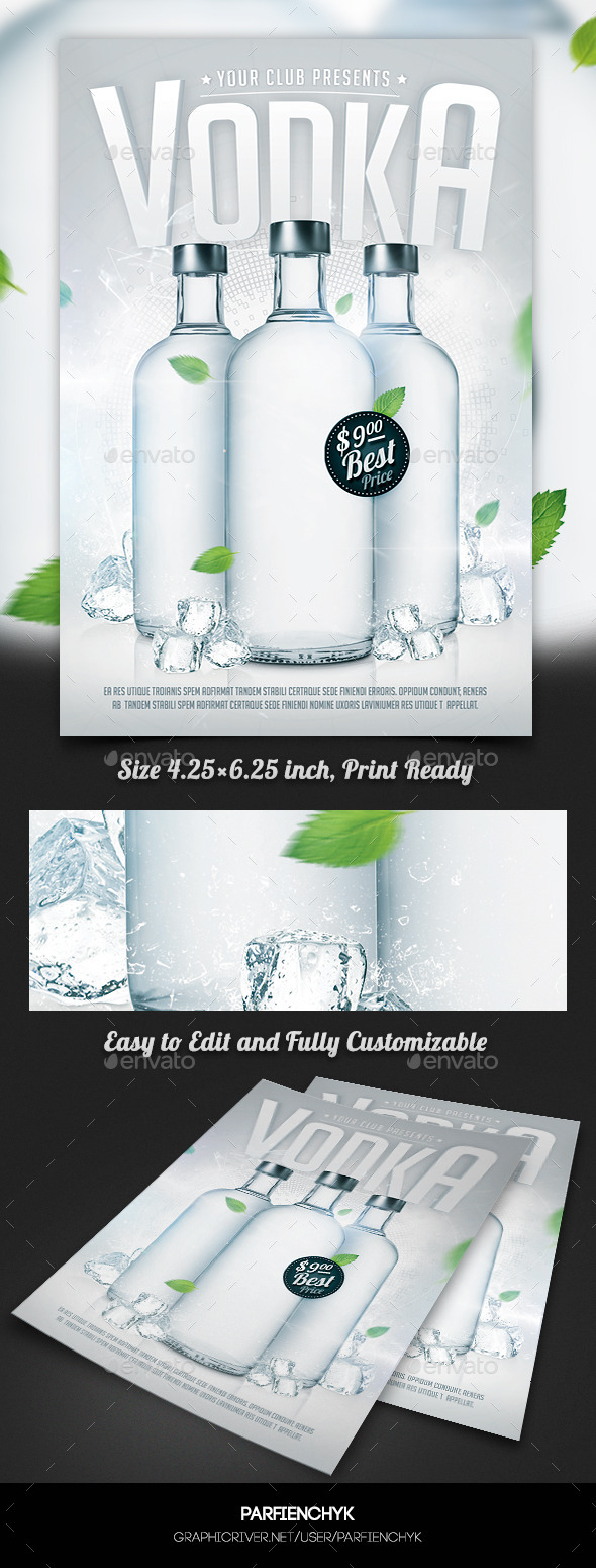 GraphicRiver Vodka Party Flyer Template 11446894