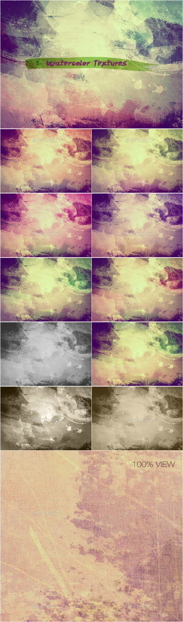 GraphicRiver Watercolor Textures Set 6 11447216