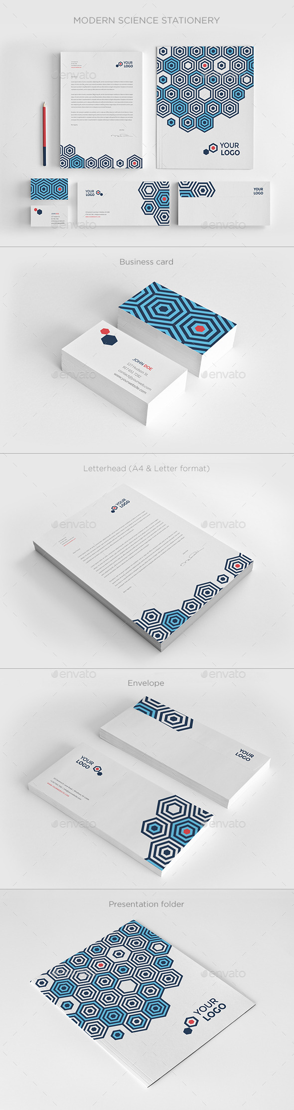 GraphicRiver Modern Science Stationery 11447332