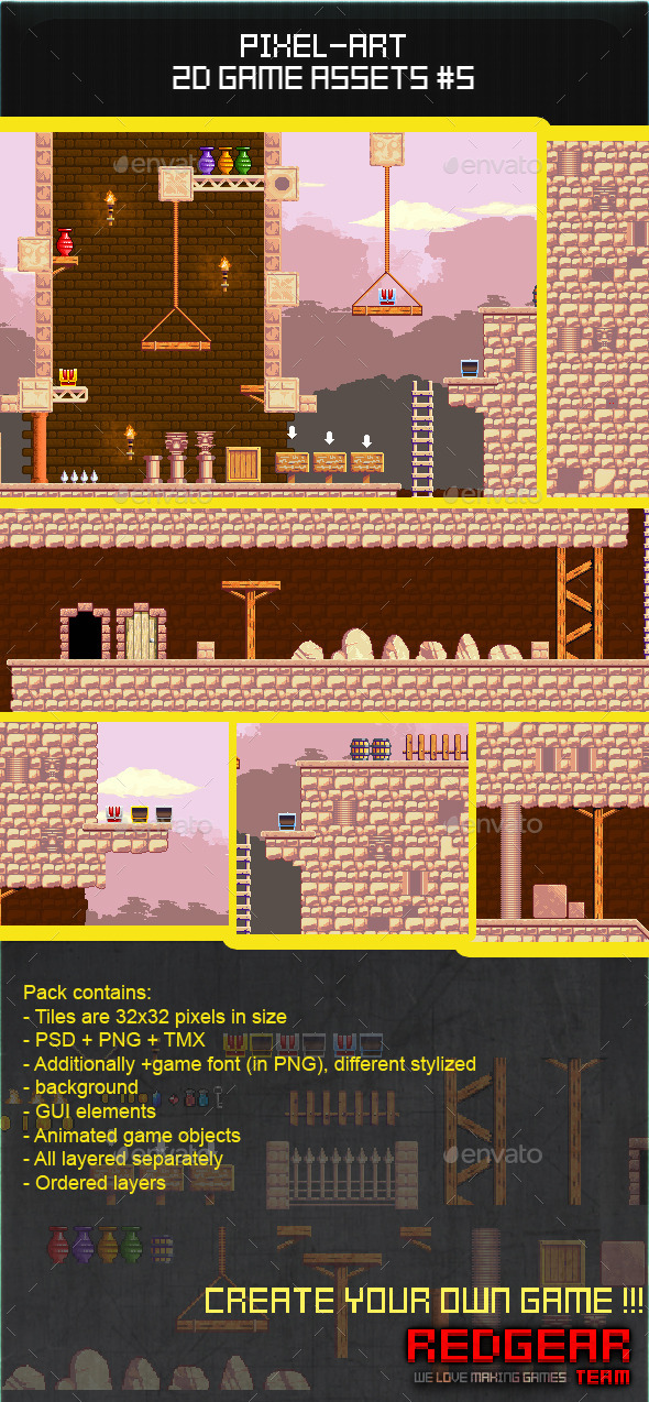 GraphicRiver 2d Pixel Art Game Assets #5 11447390