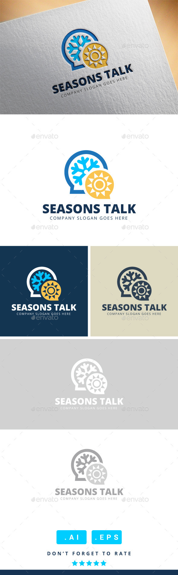 GraphicRiver Seasons Talk Logo 11447491