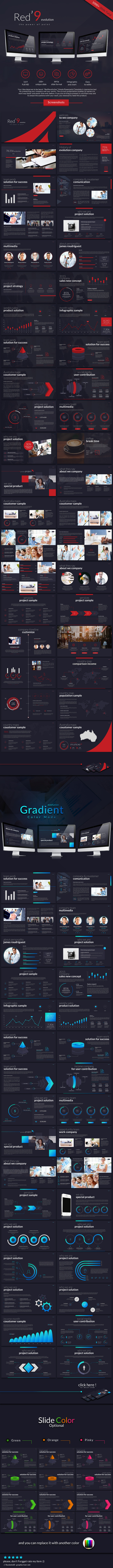 GraphicRiver Red 9evolution powerpoint 11447576