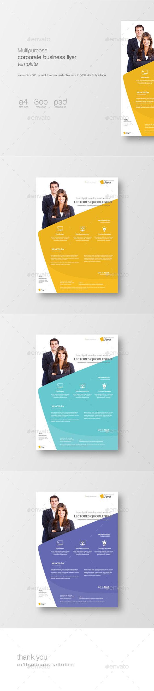 GraphicRiver Multipurpose Corporate Flyer Template 11448004