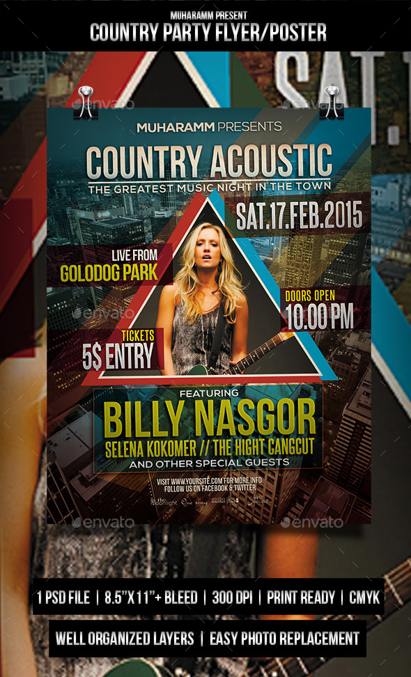 GraphicRiver Country Party Flyer Poster 11448440