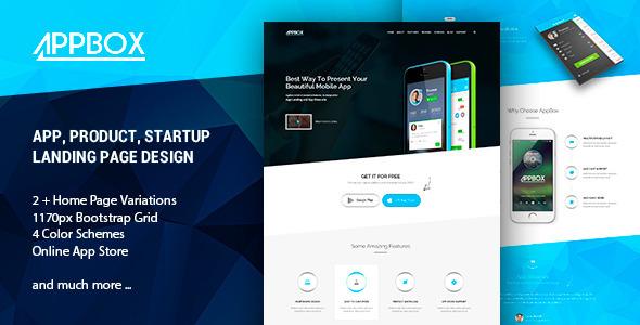 ThemeForest AppBox App Landing & Shop HTML 11416977
