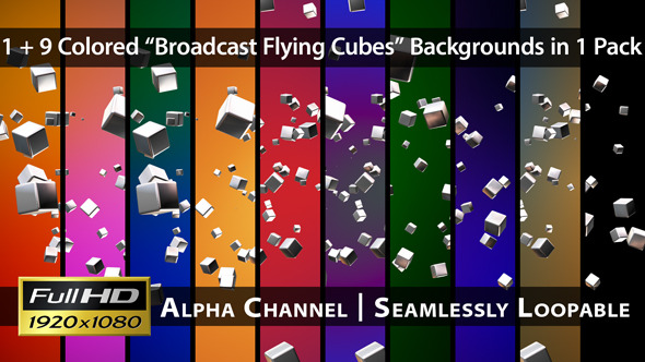 Broadcast Flying Cubes Pack 02
